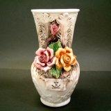 陶花付き花瓶